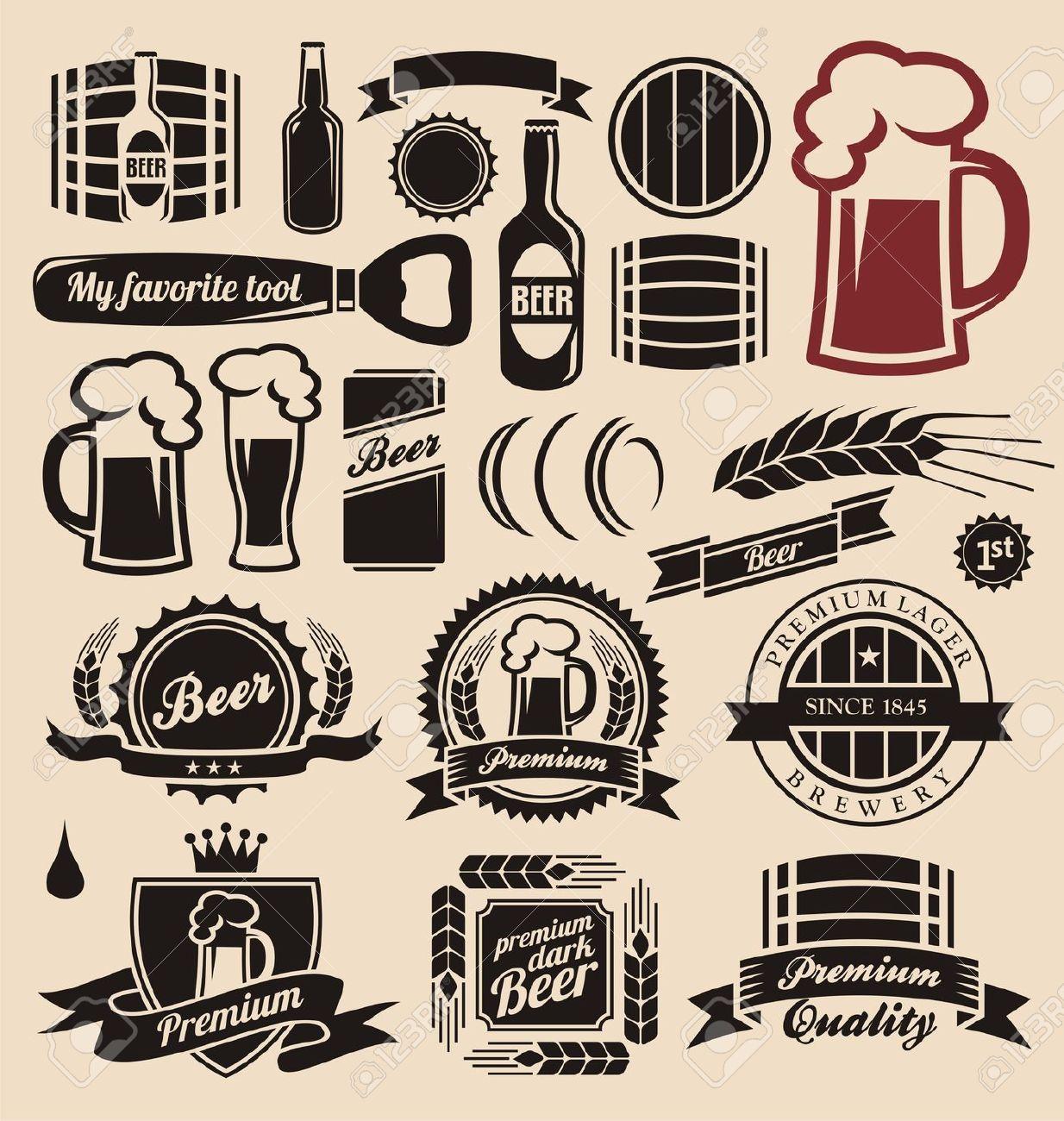 1234x1300 Etiqueta Cerveza Vector