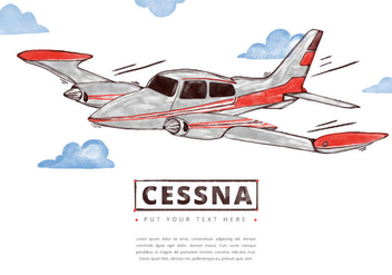 352x247 Cessna Plane Free Vector Free Vector Download 211439 Cannypic