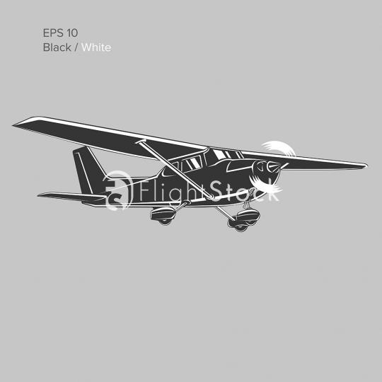 540x540 Single Engine Propelled Aircraft Vector Flightstock