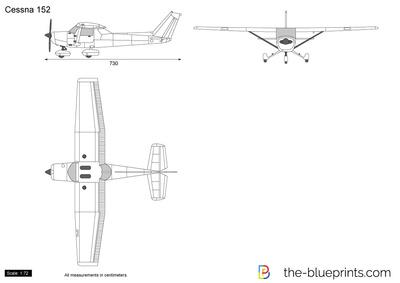 400x283 Cessna 152 Vector Drawing