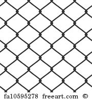 180x195 Free Art Print Of Chain Link Fence Vector. A Chain Link Fence