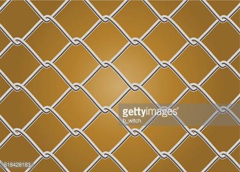 489x350 Chain Link Fence Vector Premium Clipart