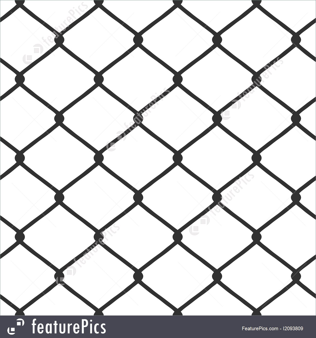 1300x1392 Chain Link Fence Vector