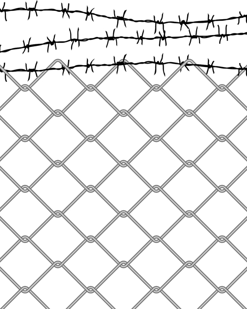 500x627 Metal Chain Fence Png. Seamless Chainlink Fence N
