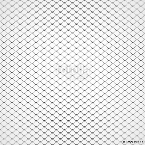 500x500 Realistic Steel Netting, Chain Link Fencing, Rabitz Grid, Isolated