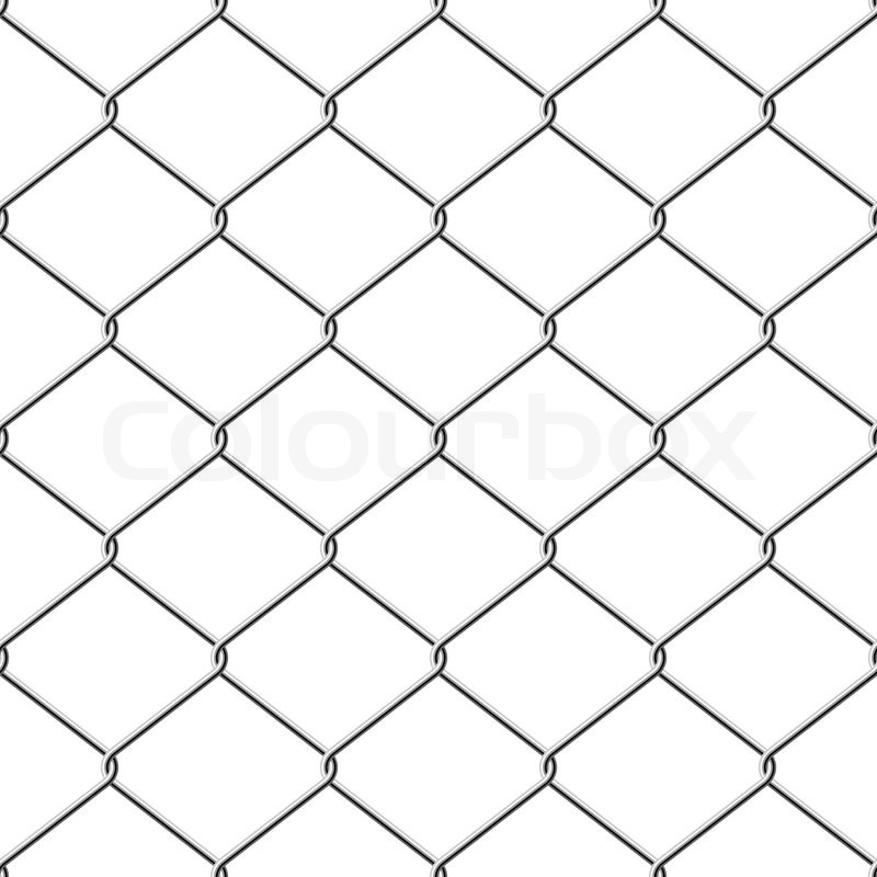 800x800 Realistic Wire Chain Link Fence Seamless Vector Background