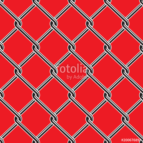 500x500 Seamless Detailed Chain Link Fence Pattern Texture Stock Image