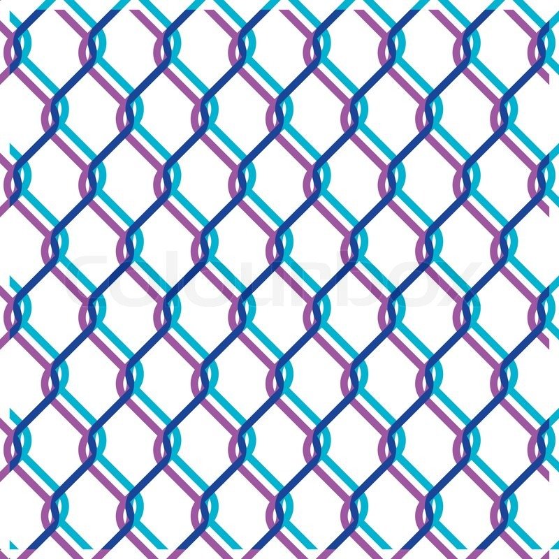800x800 Vector Chain Link Fence Texture On White Backgound Stock Vector
