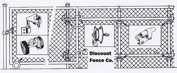 612x254 Wood Fence Vector Chain Link Fence