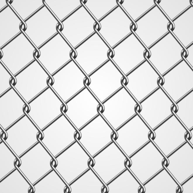660x660 Chain Link Fence Vector Image