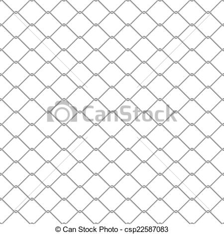 450x470 Chain Link Fence. Repeating Chain Link Fence. Tileable Vector