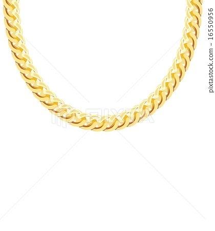 420x450 Gold Chain Jewelry. Vector Illustration Stock Illustration