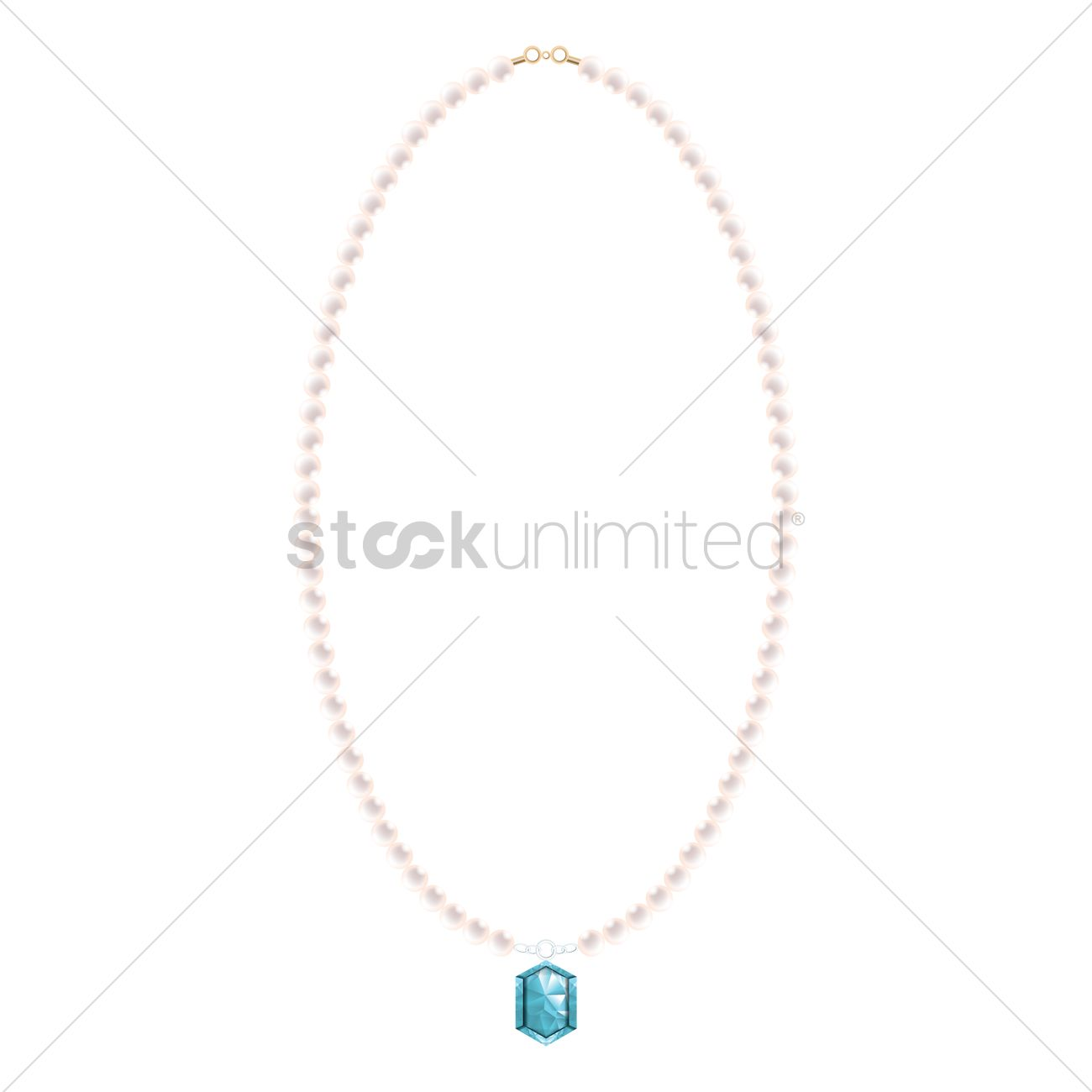1300x1300 Pearl Necklace Vector Image