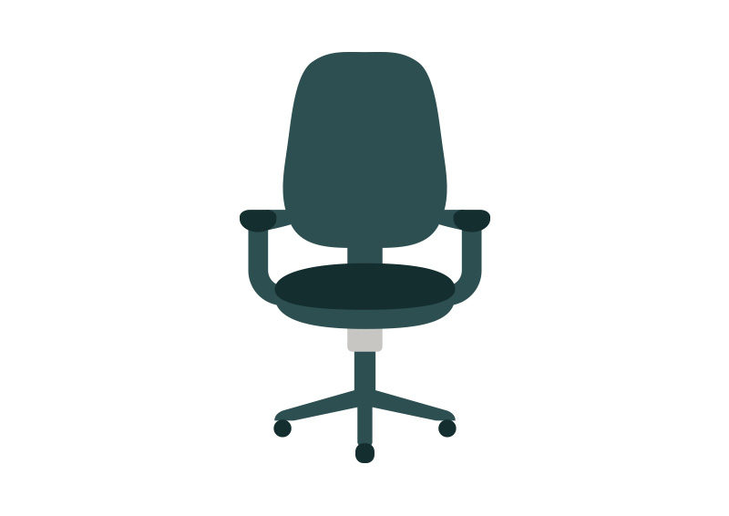 800x566 Office Chair Flat Vector Icon