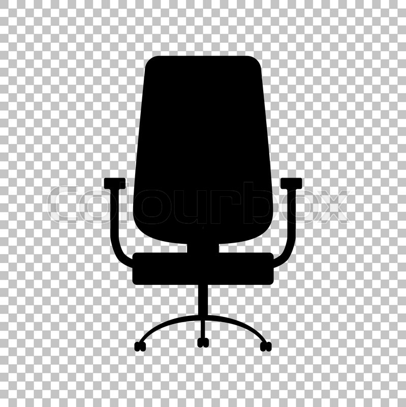 799x800 Office Chair Sign. Flat Style Icon On Transparent Background
