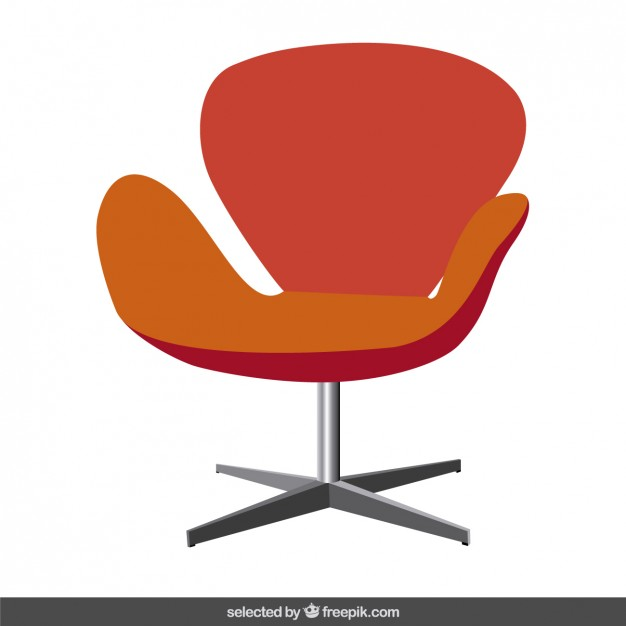 626x626 Red Modern Chair Vector Free Download