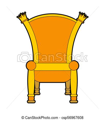 410x470 Royal Throne Isolated. Gold Regal Chair Vector Illustration.