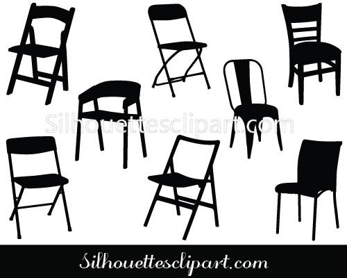 500x400 Chair Vector Graphics Download Chair Vector Silhouette