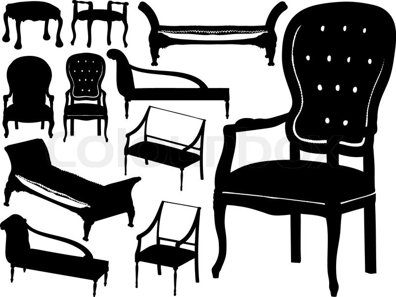 800x601 Vector Collection Of Chairs Stock Vector Colourbox