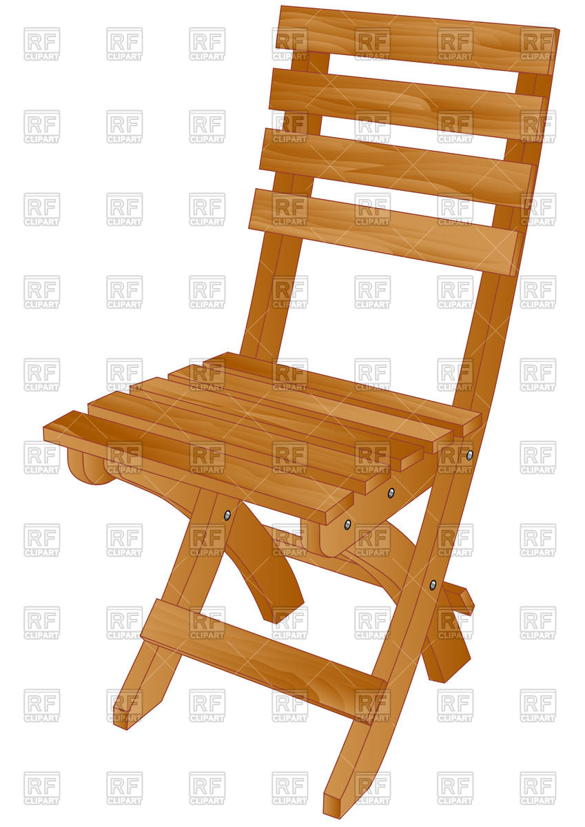 849x1200 Wooden Folding Chair Vector Image Vector Artwork Of Objects
