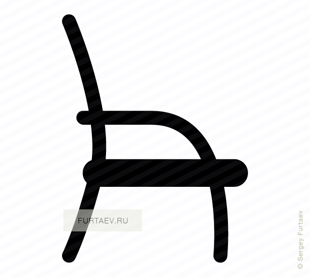 620x553 Chair Vector Icon
