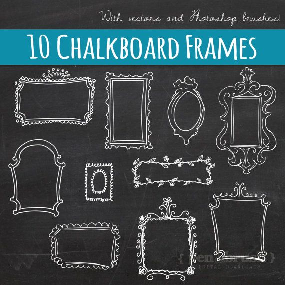 Chalk Frame Vector
