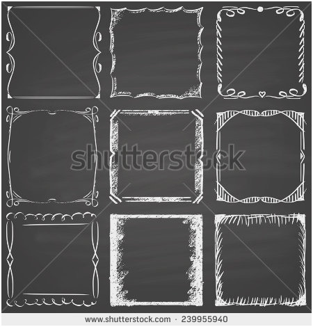 450x470 Black Chalkboard Frame Lovely Set Nine Frames Chalk Blackboard
