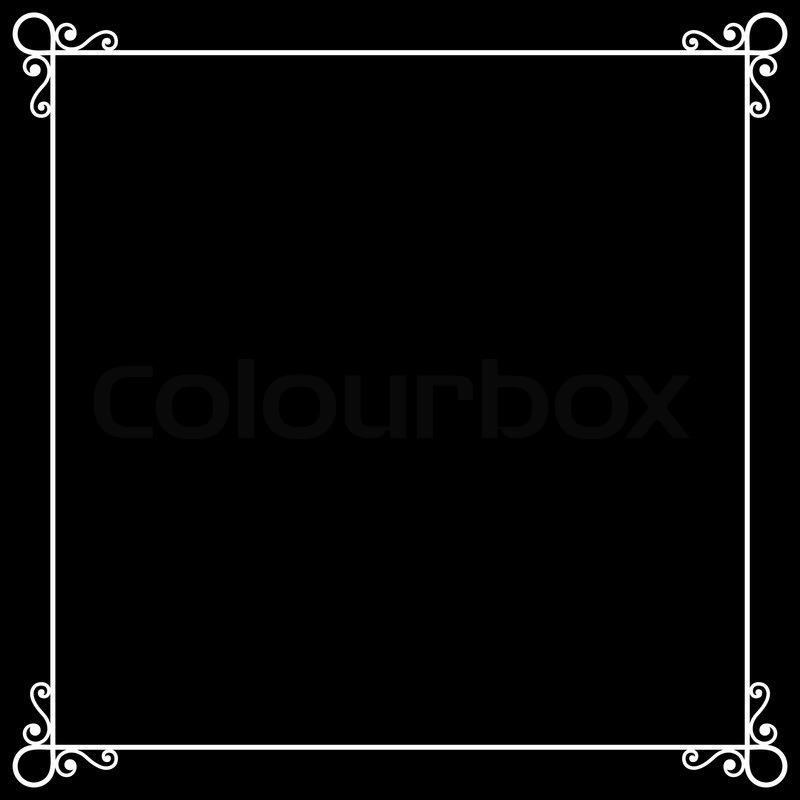800x800 Vintage Frame On Chalkboard Retro Background For Silent Film