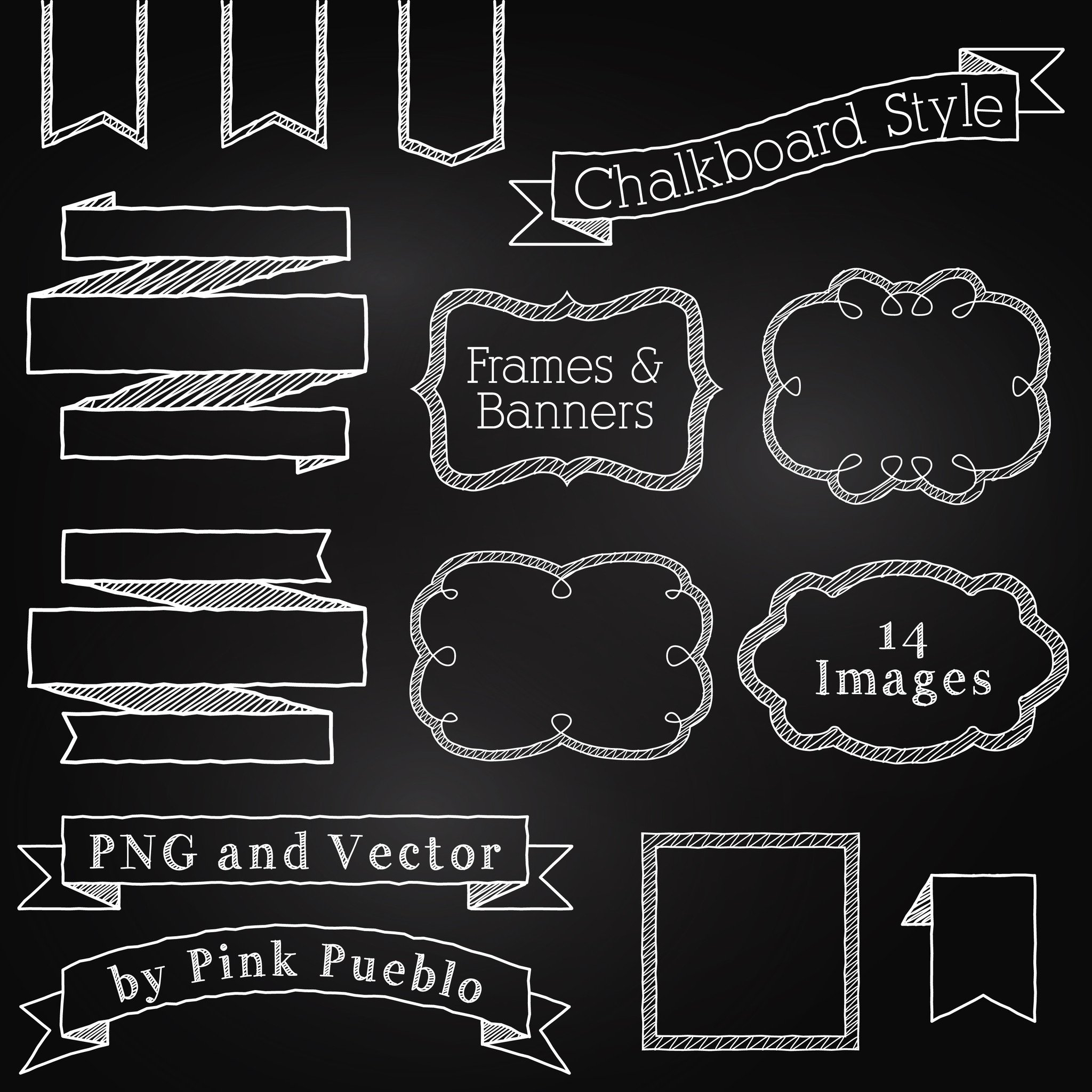 2048x2048 Chalkboard Elements Clipart Amp Vector Pinkpueblo