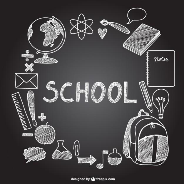 626x626 Chalkboard Drawing Banner Freeuse School