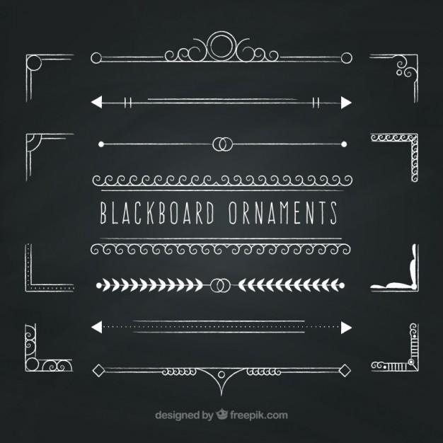 626x626 Blackboard Ornaments Vector Free Download