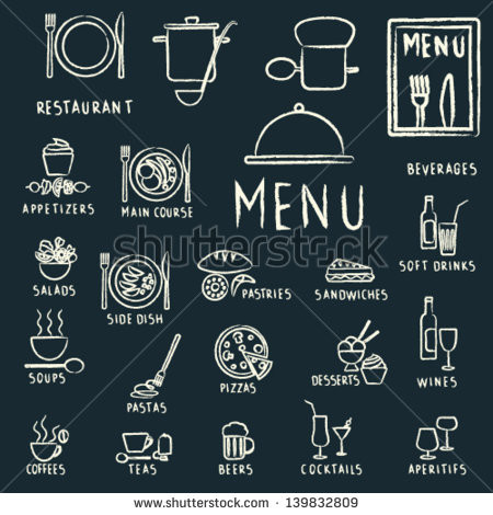 450x470 Free Chalkboard Vector Elements Restaurant Menu Design Elements