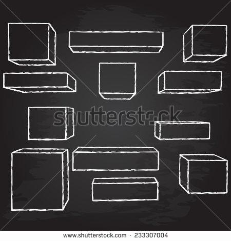450x470 Free Chalkboard Vector Elements Unique Hand Drawn Geometric Shapes