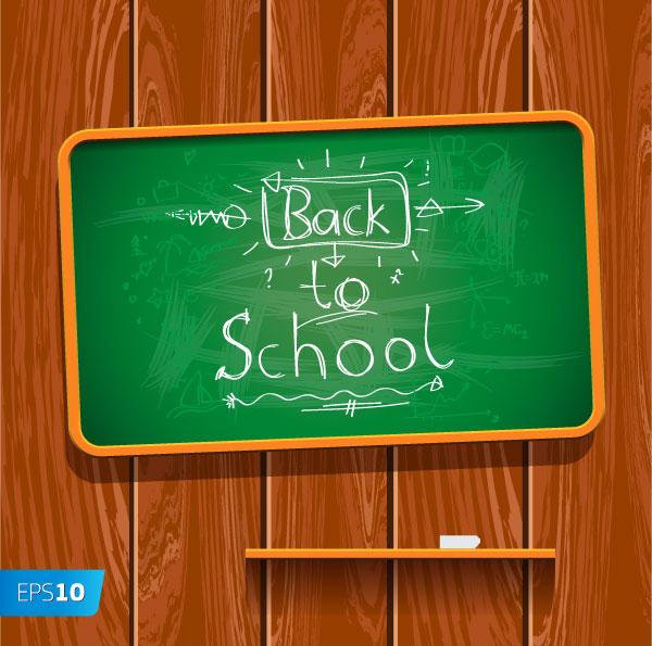 600x595 Back To School Written On Chalkboard Vector Illustration Free