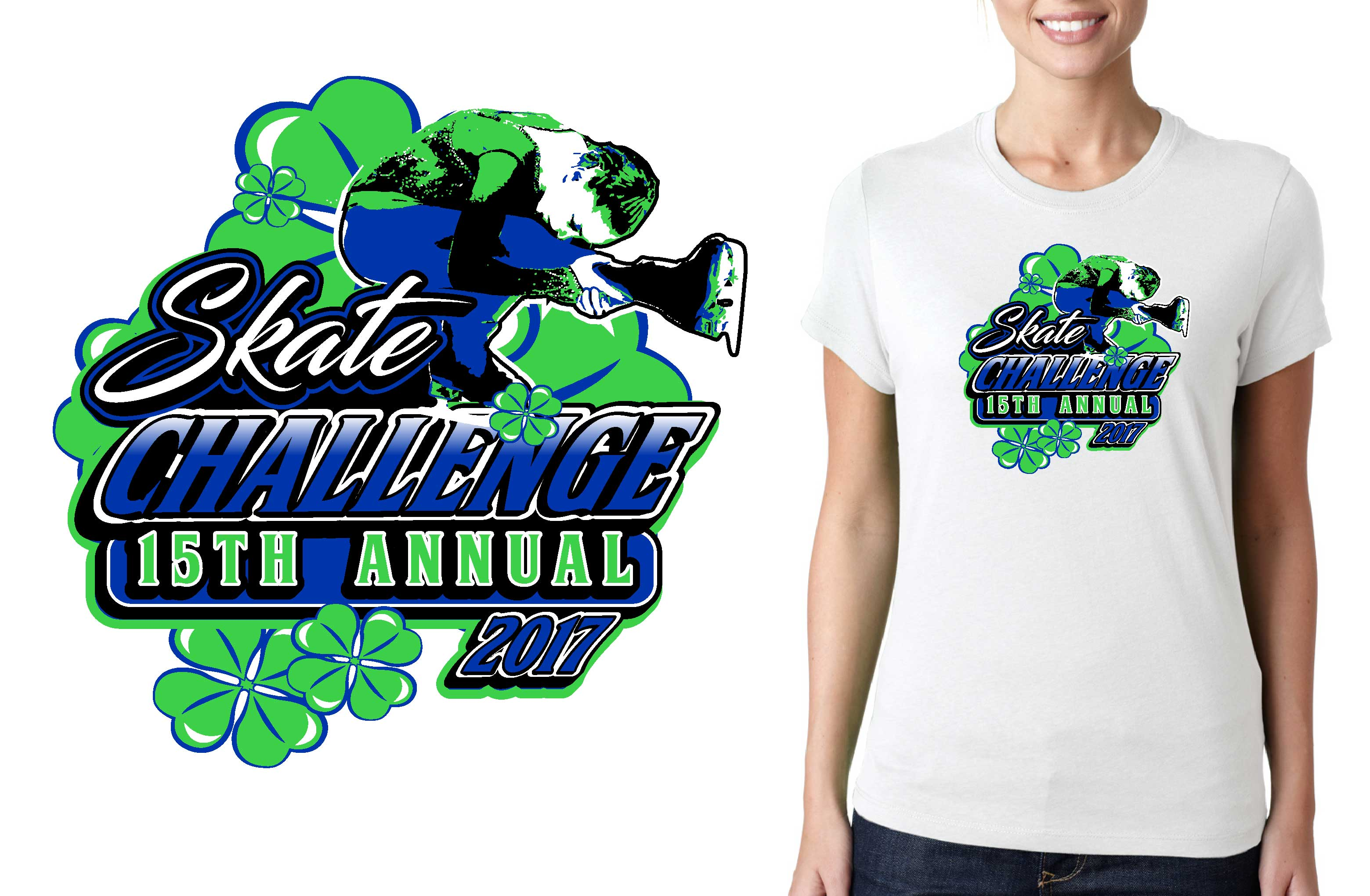 3119x2040 2017 15th Annual Skate Challenge Vector Logo Design For Figure