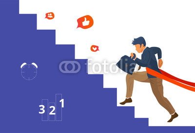 400x273 Overcome Challenge Vector Illustration Resilient Businessmen With