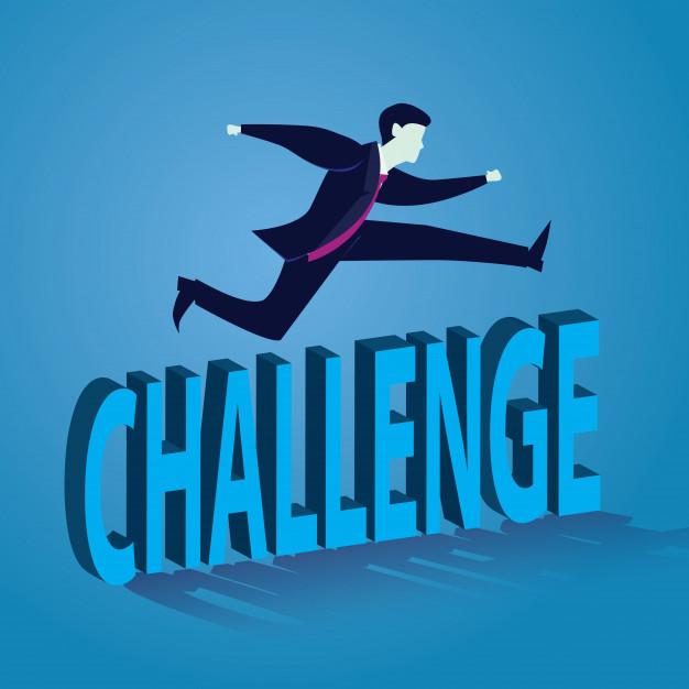 626x626 Businessman Jumping Over Challenge Vector Premium Download