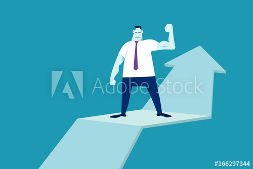 500x334 Businessmen Show Strong Challenge Vector Graphic