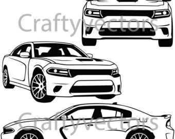 340x270 Dodge Challenger 2014 Vector File Etsy