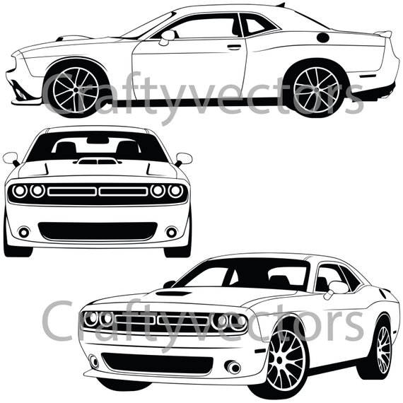 570x570 Dodge Challenger 2015 Vector File Etsy