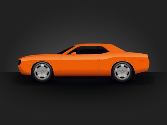580x435 Dodge Challenger Free Vector In Adobe Illustrator Ai ( .ai