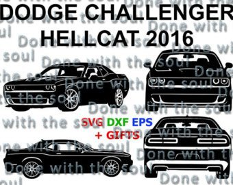 340x270 Dodge Challenger Hellcat 2016 Challenger Car Vector Cut Digital