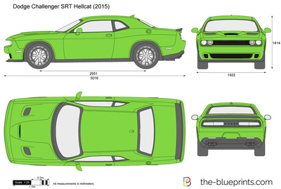 400x270 Dodge Challenger Srt Hellcat Vector Drawing