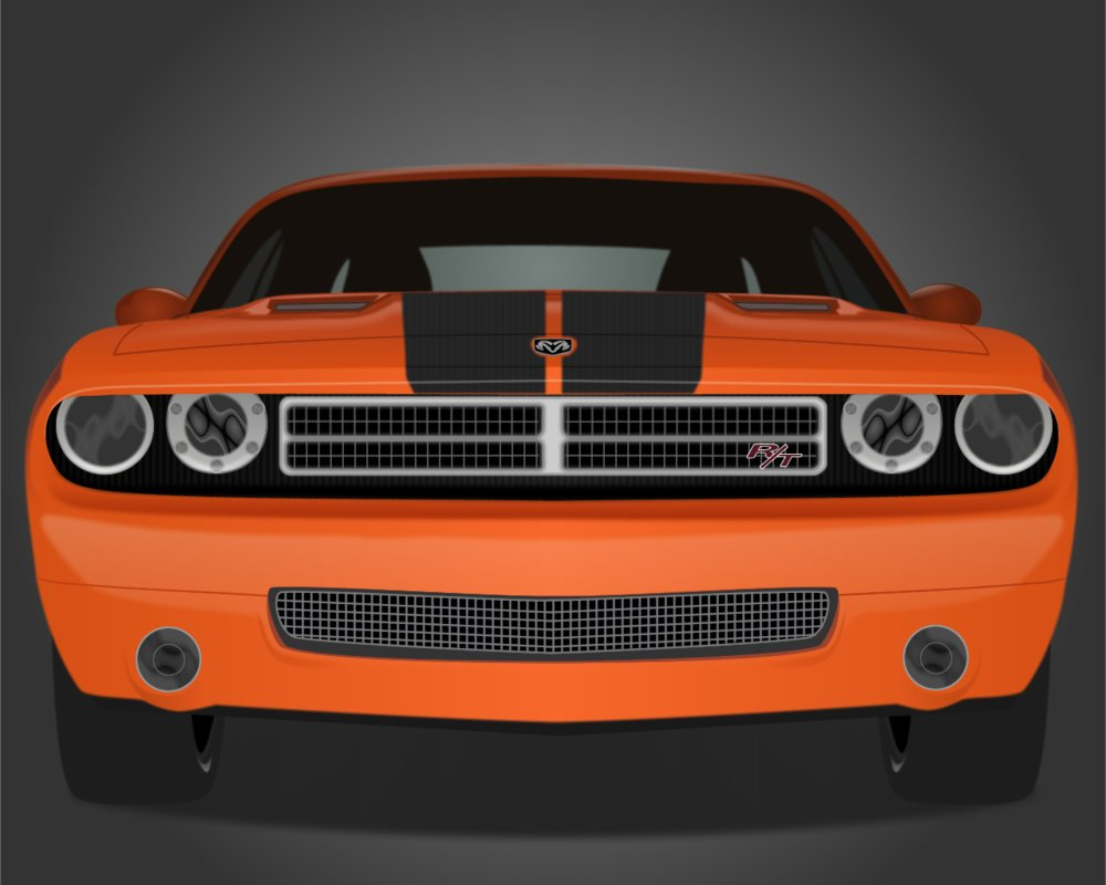1000x800 Dodge Challenger Vector By Filipeperina