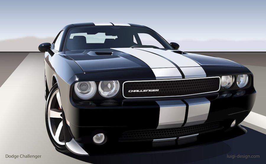 900x554 Dodge Challenger Vector By Luigila