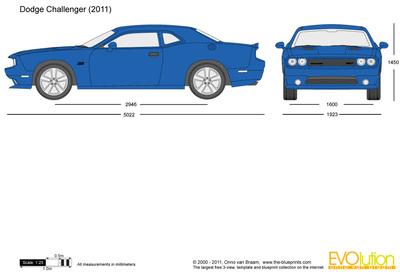 400x272 Dodge Challenger Vector Drawing