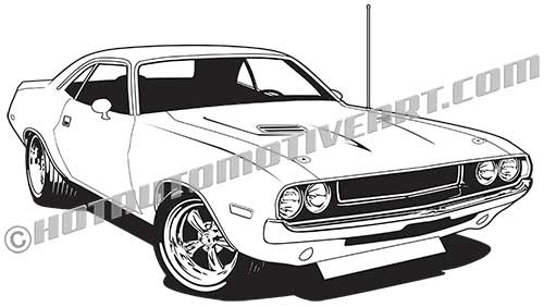 500x282 1970 Dodge Challenger Hemi Clip Art High, Buy Two Images, Get One