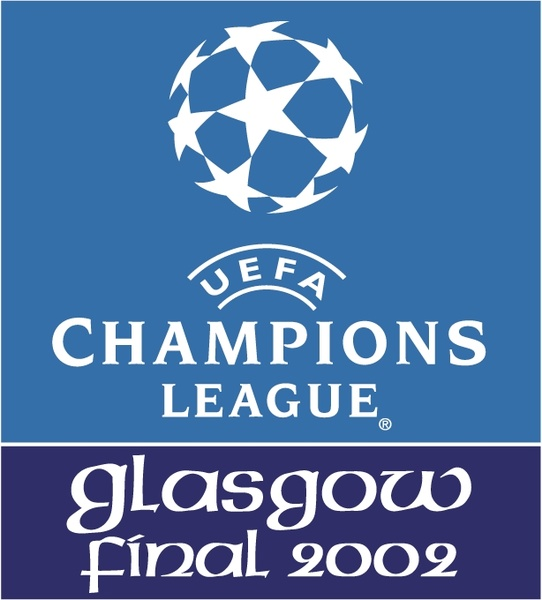 542x600 Uefa Champions League Glasgow Final 2002 Free Vector In