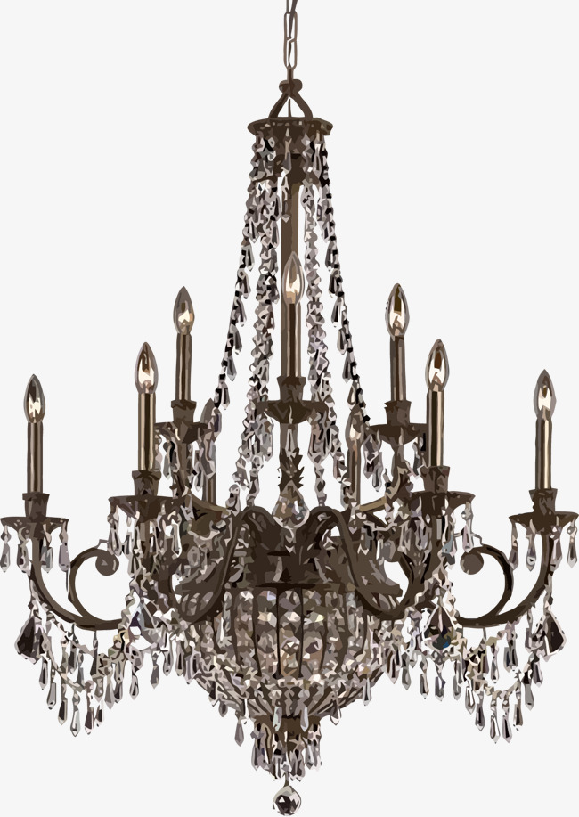 650x917 Continental Luxury Ceiling Chandelier Vector, Luxury European