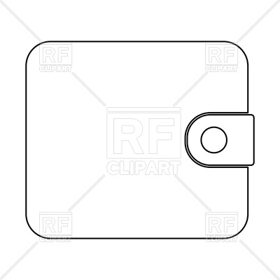 400x400 Change Purse, Wallet Or Purse Outline Vector Image Vector